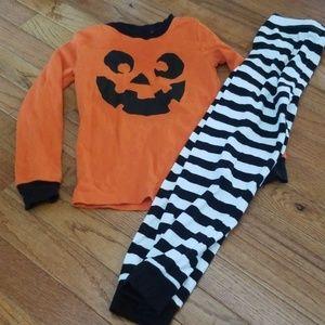 Gymboree Halloween pumpkin pajama 6/7